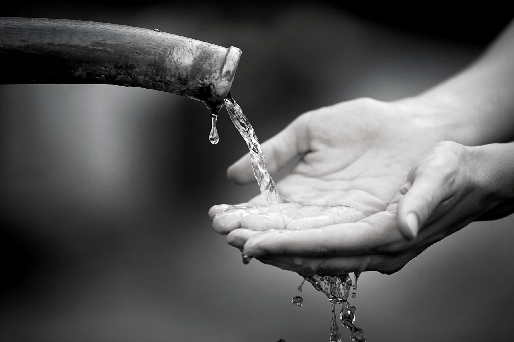 water uit een leiding