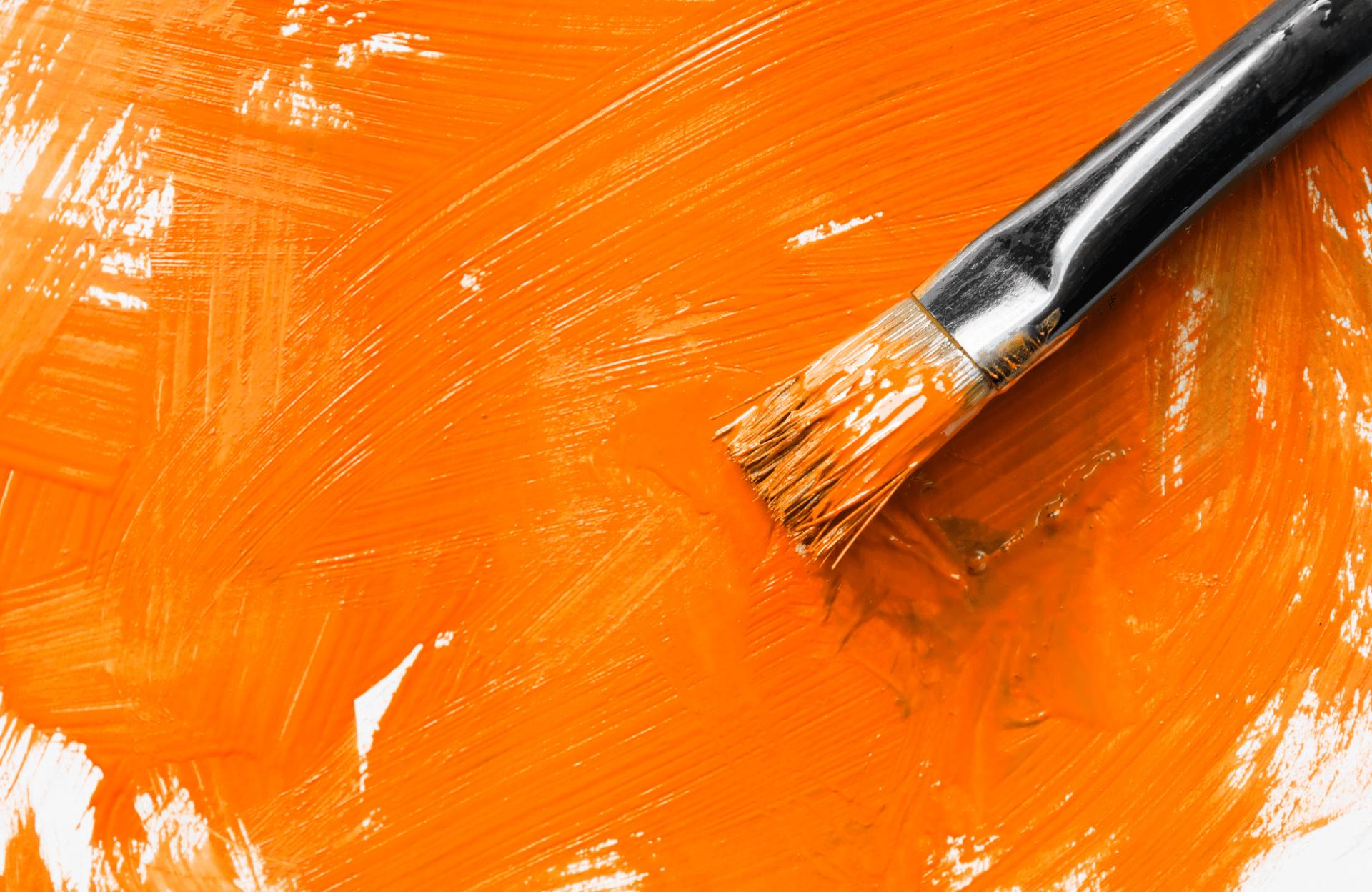 Orange painting Servaco