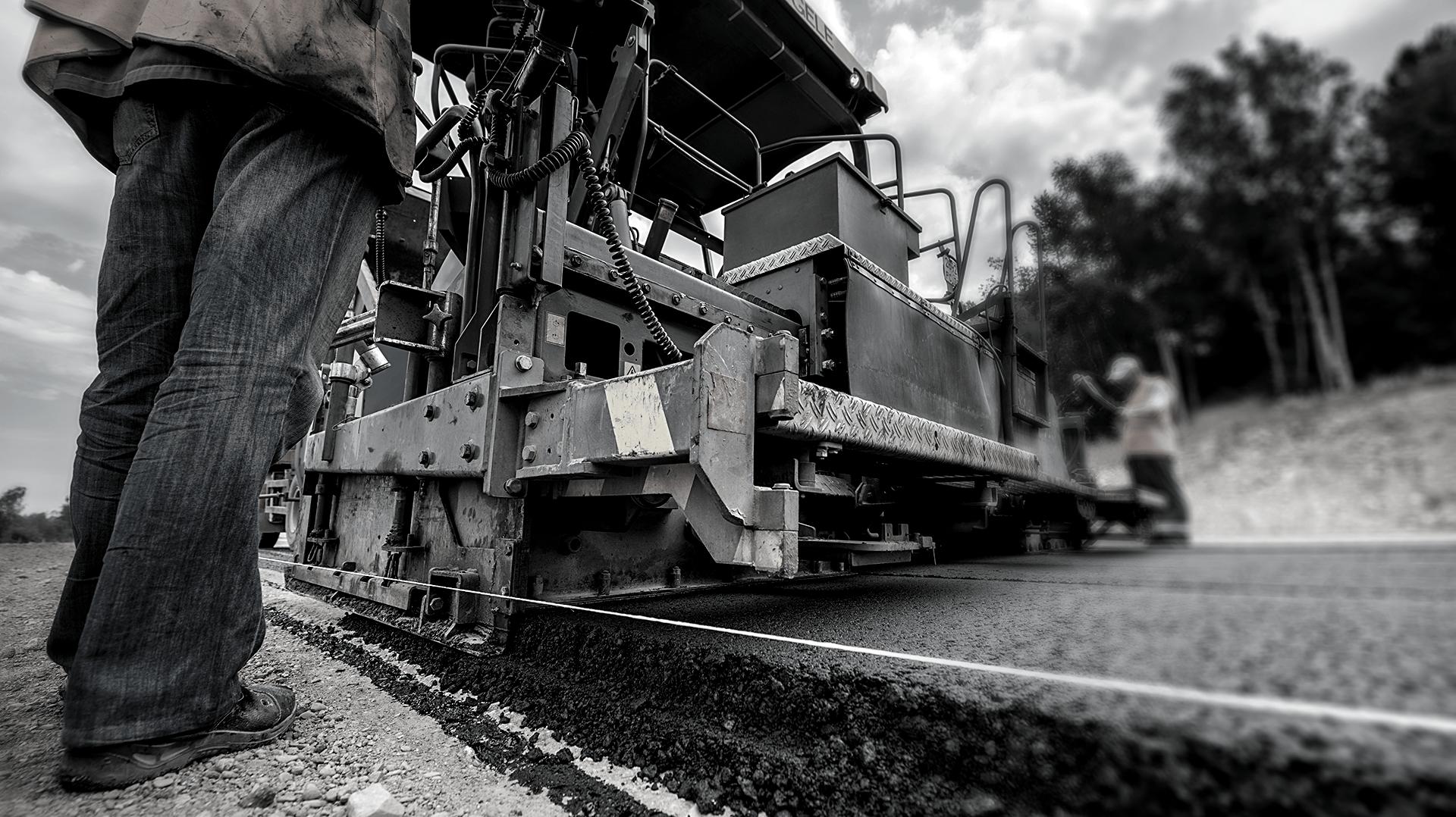 asfalt aanleggen